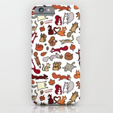 Squirrels in Fall Doodle iPhone 6 Slim Case