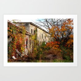 Somewhere in Rhode Island - Abandoned Mill 001  Art Print
