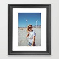 Palm Springs Windmills Framed Art Print