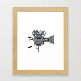 Vintage Movie Film Camera Retro Framed Art Print