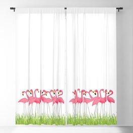 Cuban Pink Flamingos Blackout Curtain