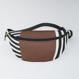 Stripe Block in Black Fanny Pack