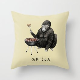 Grilla Throw Pillow