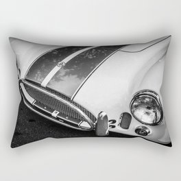 Black and White Cobra Rectangular Pillow