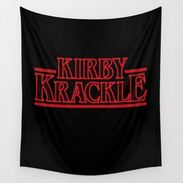 Kirby Krackle - Upside Down Logo Wall Tapestry