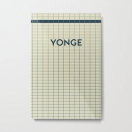 YONGE | Subway Station Metal Print