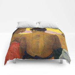 Three Tahitians by Paul Gauguin Comforters