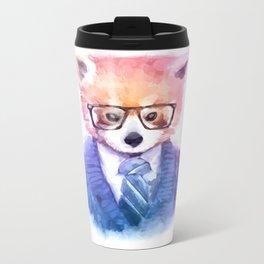 Cute fashion hipster animals pets red panda Metal Travel Mug