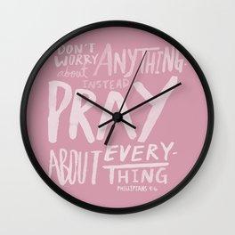 Dont Worry, Pray x Rose Wall Clock