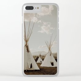 Middle of Montana Clear iPhone Case