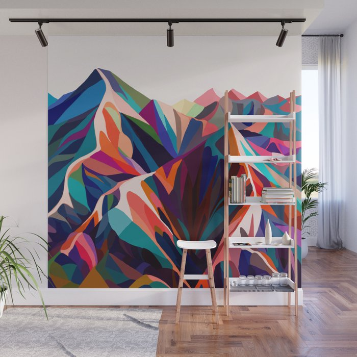 Mountains Sunset Warm Wall Mural By Margo Ku Society6