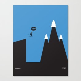 WTF? Ski Canvas Print