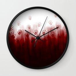 Terror Blood Hands Wall Clock