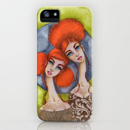 Jenny Manno Original Watercolor: Mother and Daughter iPhone Case