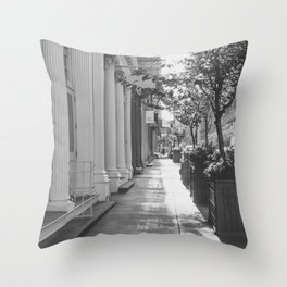 One Fine Morning in Soho Throw Pillow
