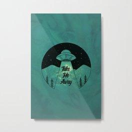 """Take Me Away"" UFO (Colour) Metal Print"