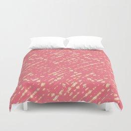 Coral Shibori Duvet Cover