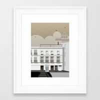 buildings Framed Art Prints featuring Buildings by Studio Caravan