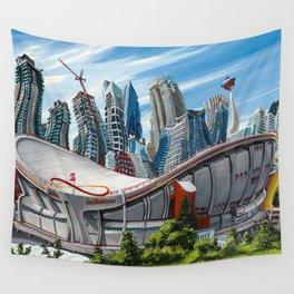 Downtown Calgary Skyline Wall Tapestry