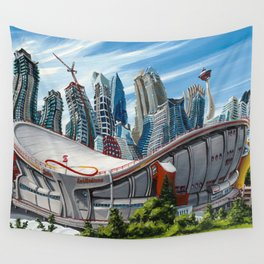 Downtown Calgary Skyline Wall Tapestry