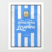 argentina Art Prints featuring Argentina by liamhohoho