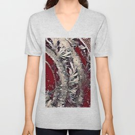 Got Frost Red Silver by CheyAnne Sexton Unisex V-Neck