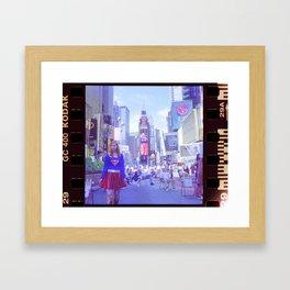A Girl in the Big City Framed Art Print