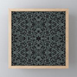 Abstract nador dark green and black 13 Framed Mini Art Print