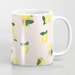 Lemons and Oranges - Pink Coffee Mug