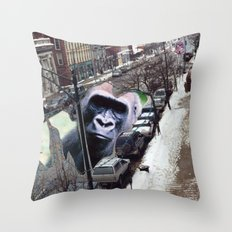 Potsdam Gorilla Throw Pillow