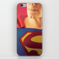 man of steel iPhone & iPod Skins featuring Man Of Steel  by Fanboy30