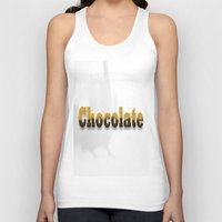 chocolate Tank Tops featuring chocolate by scalpel