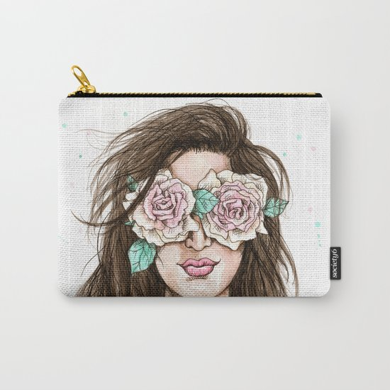 white roses in their eyes (female version) Carry-All Pouch