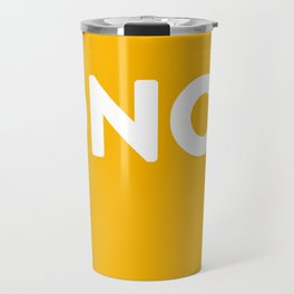 Once Bitten, Twice Shy - Sunshine Yellow Travel Mug