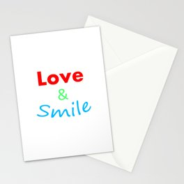 Love & Smile Stationery Cards