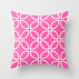 Trellis Pink Throw Pillow
