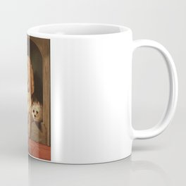 bloodhound and a terrier 1800's oil painting. Coffee Mug