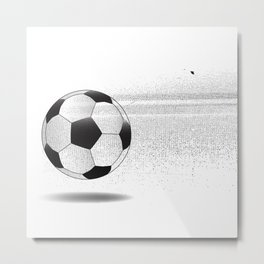 Moving Football Metal Print