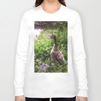 duck Long Sleeve T-shirts featuring Duck by Terri Ellis