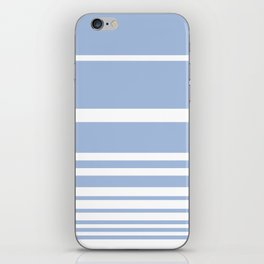 Scandi Pastel Cornflower Stripes iPhone Skin
