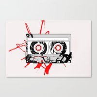 tape Canvas Prints featuring tape by Sean McFadyen