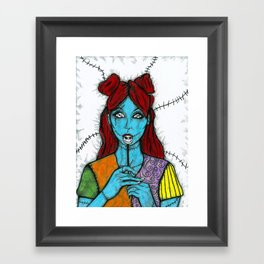 SALLY - THE NIGHTMARE BEFORE CHRISTMAS Framed Art Print