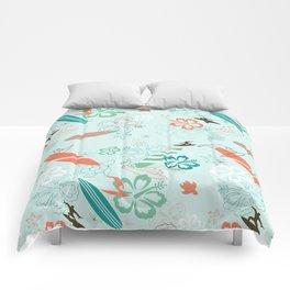 Surfs Up Blue Comforters