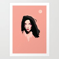 bjork Art Prints featuring Bjork by Anna McKay