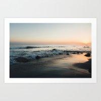 Sundown. Art Print