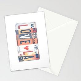 LOVE LA License Plate Art Stationery Cards