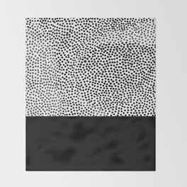 Dots and Black Throw Blanket