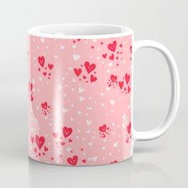 Kawaii Hearts Pattern Coffee Mug