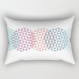 overlapping circles Rectangular Pillow