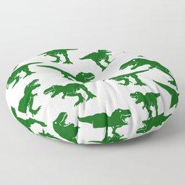 Dinosaur Pattern Tyrannosaurus Rex Dinosaurs Collage Velociraptors Floor Pillow
